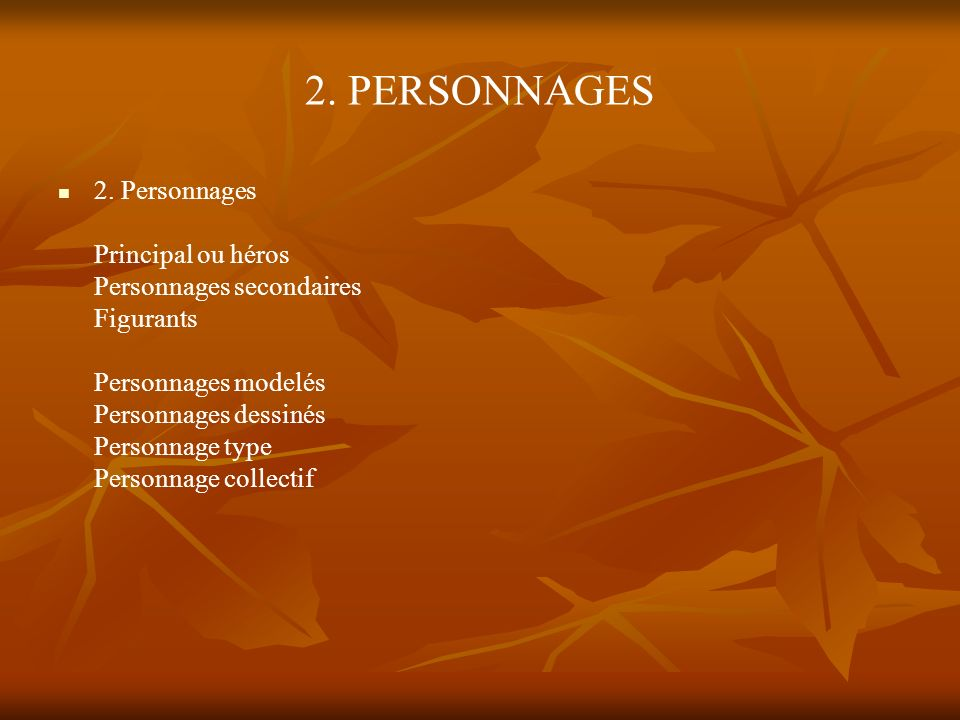 2. PERSONNAGES