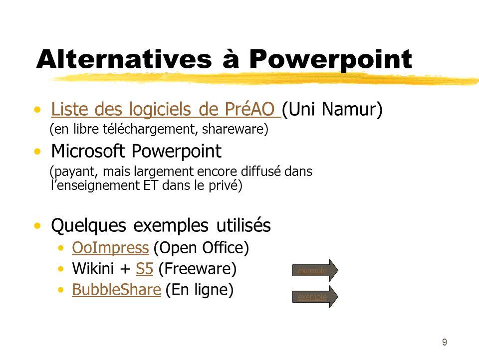 Alternatives à Powerpoint