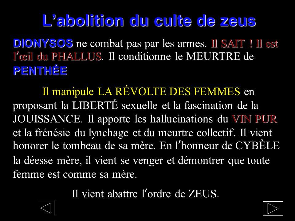L'abolition du culte de zeus