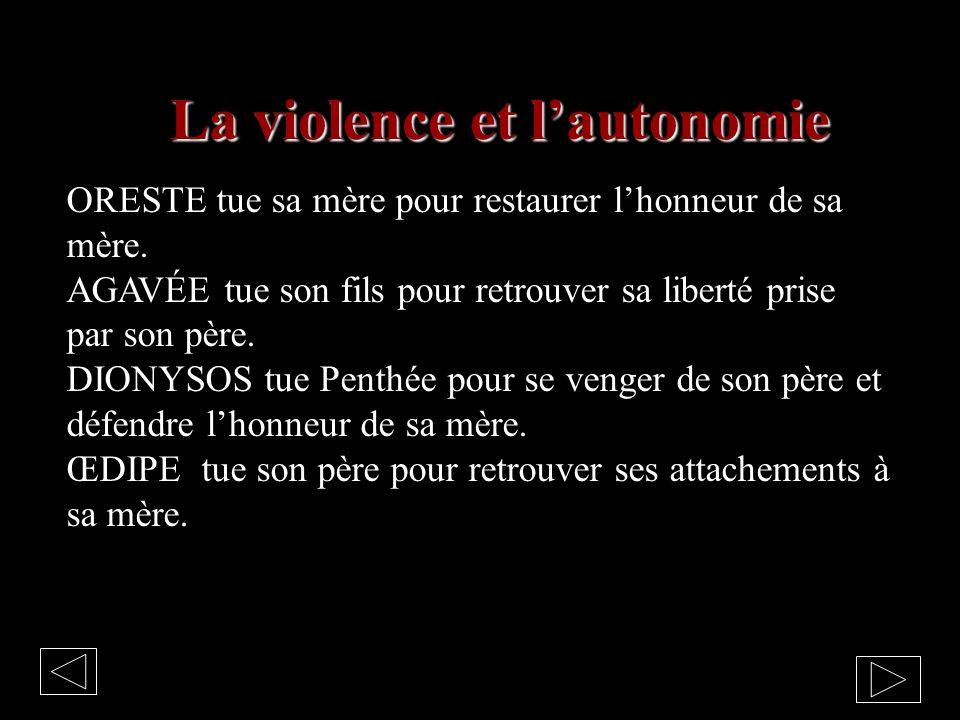 La violence et l'autonomie