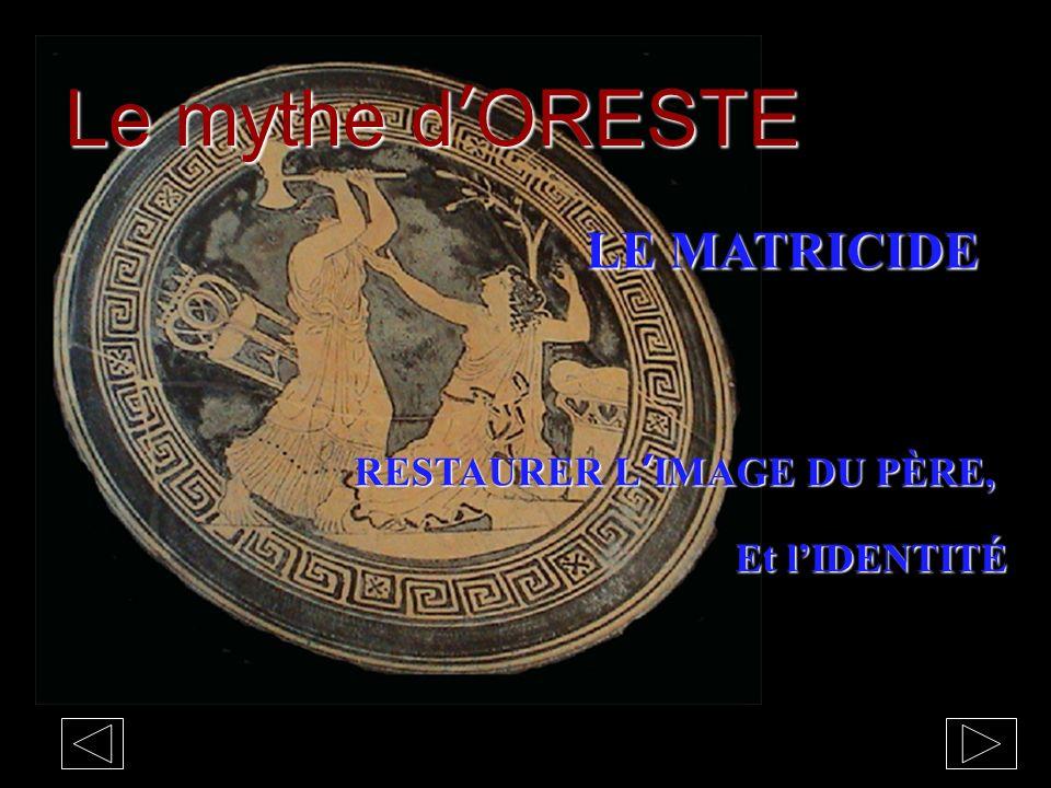 Le mythe d'ORESTE LE MATRICIDE RESTAURER L'IMAGE DU PÈRE,