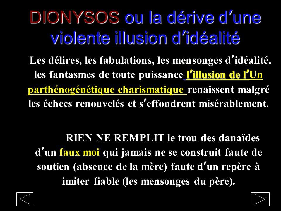 DIONYSOS ou la dérive d'une violente illusion d'idéalité