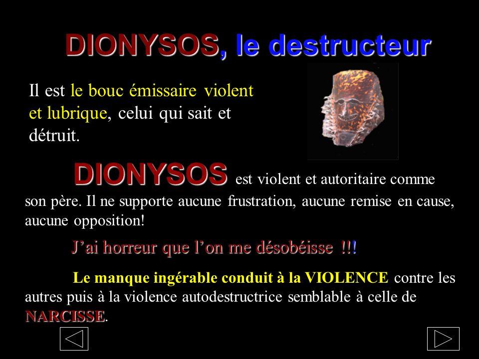 DIONYSOS, le destructeur