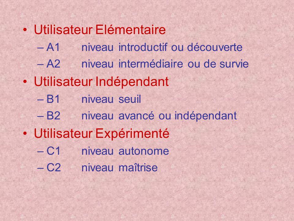 Utilisateur Elémentaire