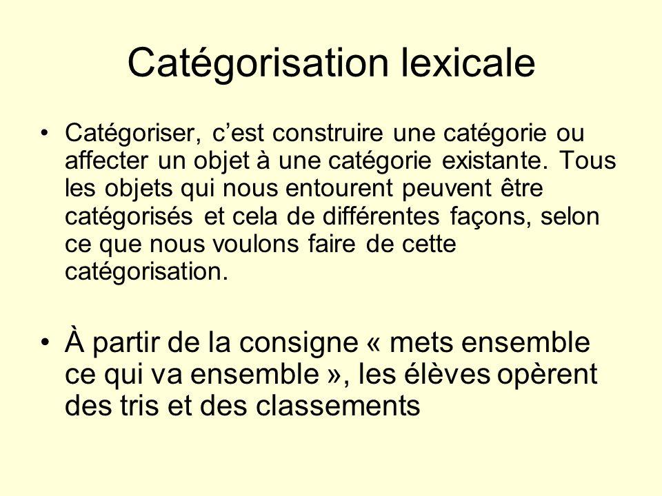 Catégorisation lexicale