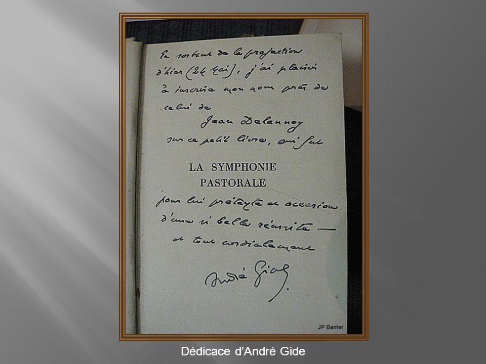 Dédicace d'André Gide