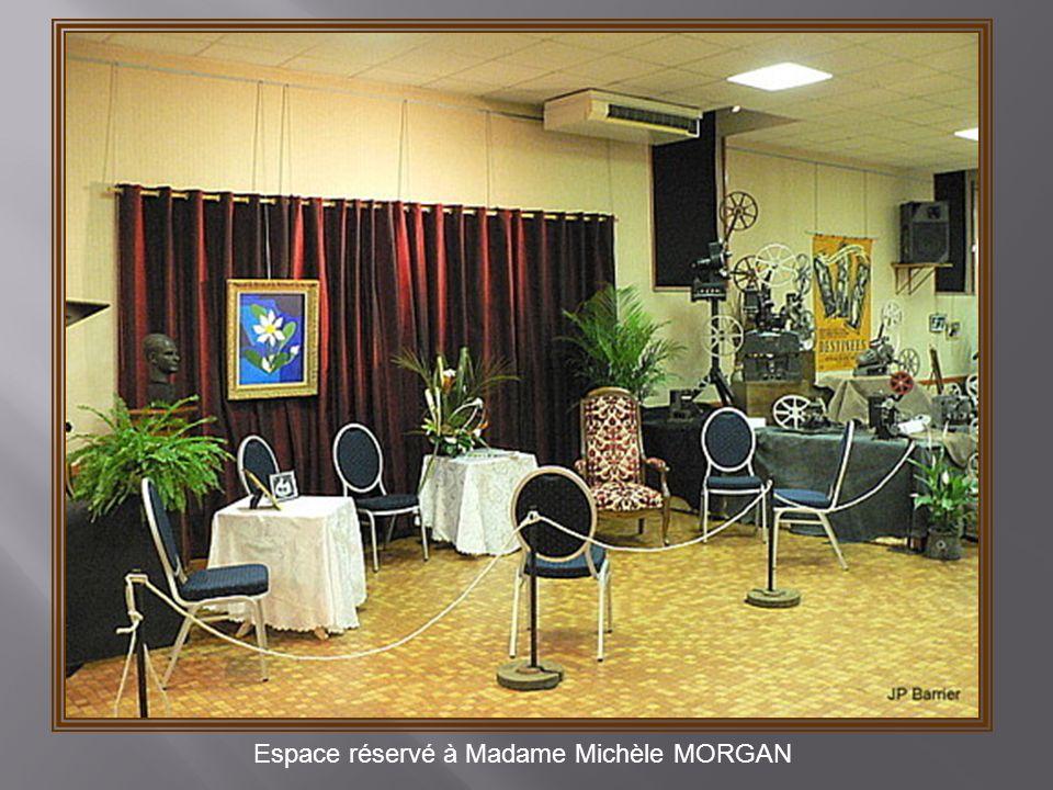 Espace réservé à Madame Michèle MORGAN