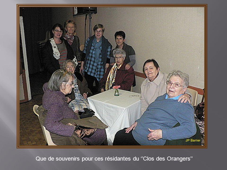 Que de souvenirs pour ces résidantes du ''Clos des Orangers''