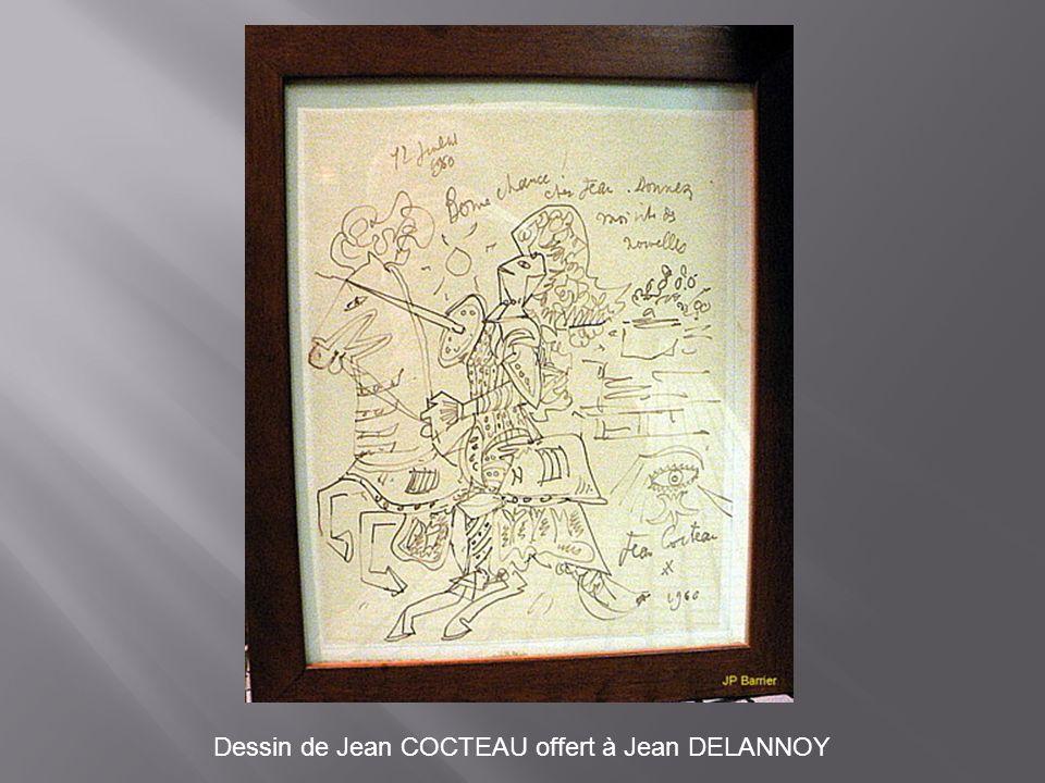Dessin de Jean COCTEAU offert à Jean DELANNOY