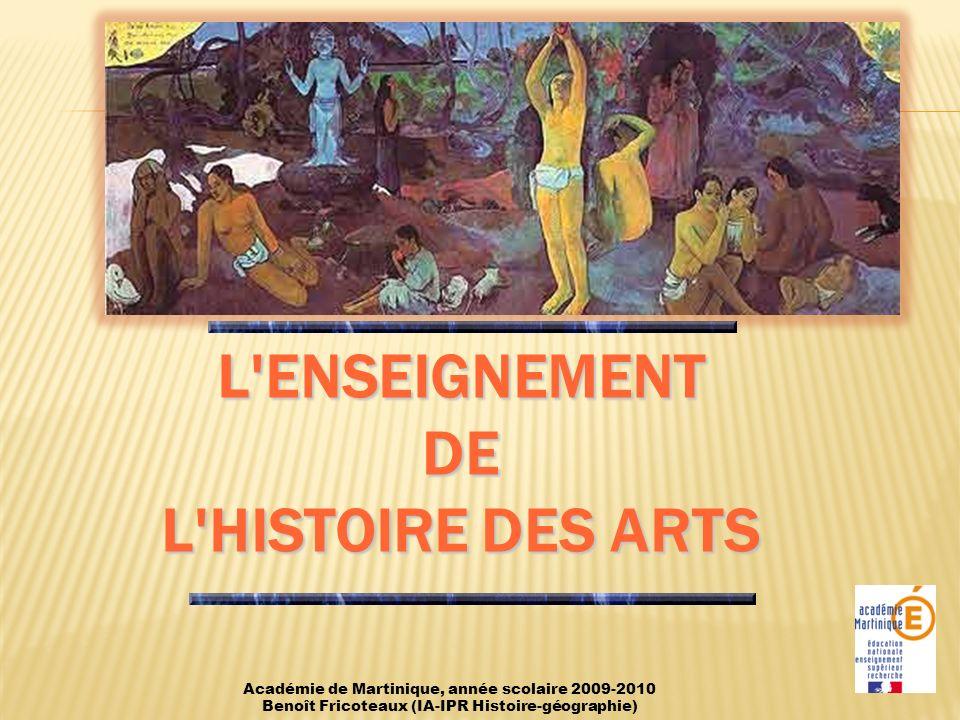 L enseignement de l histoire des Arts