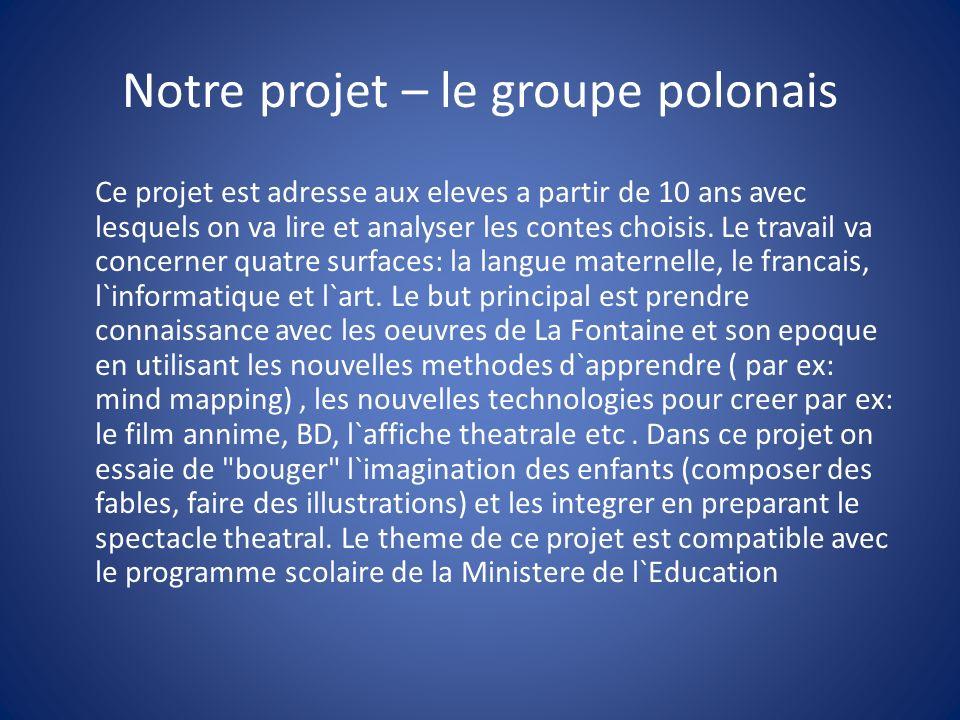 Notre projet – le groupe polonais