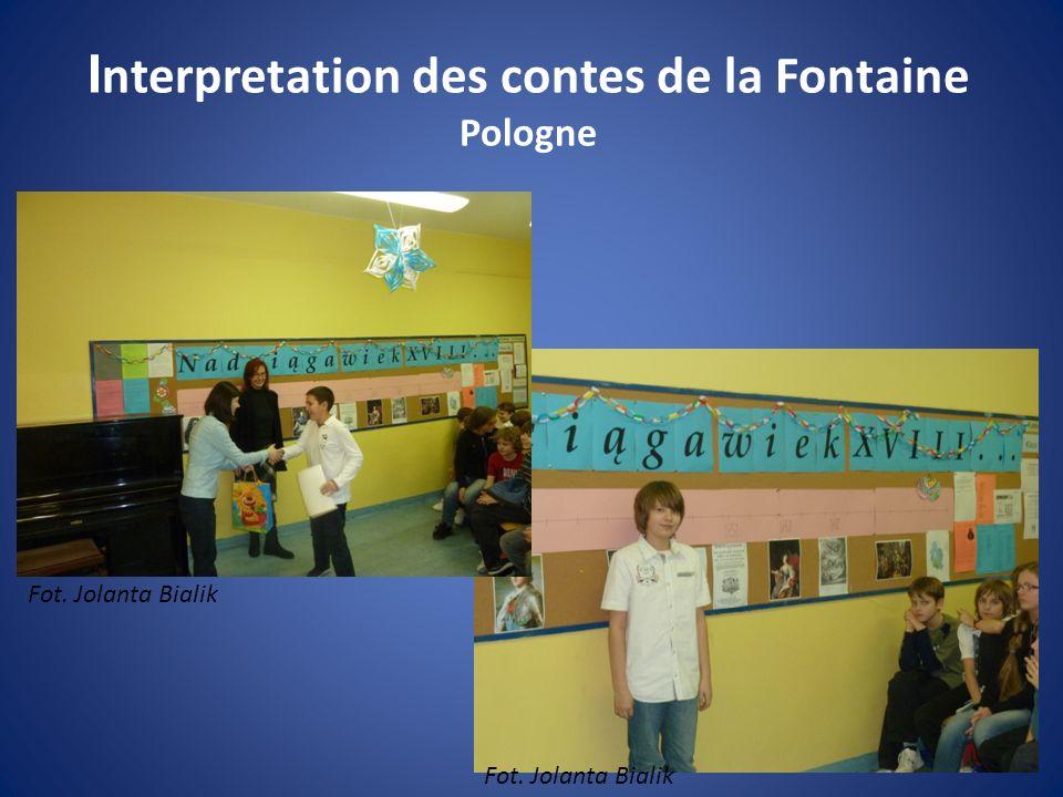 Interpretation des contes de la Fontaine Pologne
