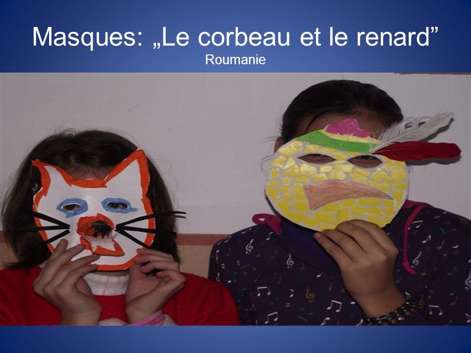"""Masques: """"Le corbeau et le renard Roumanie"""