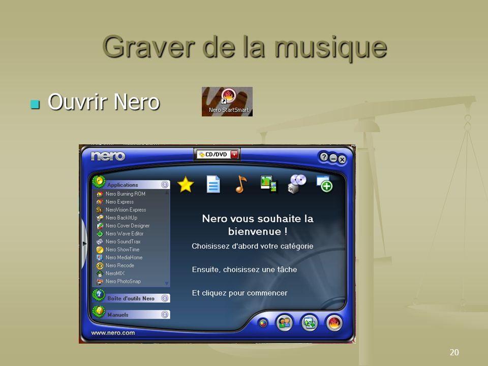 Graver de la musique Ouvrir Nero