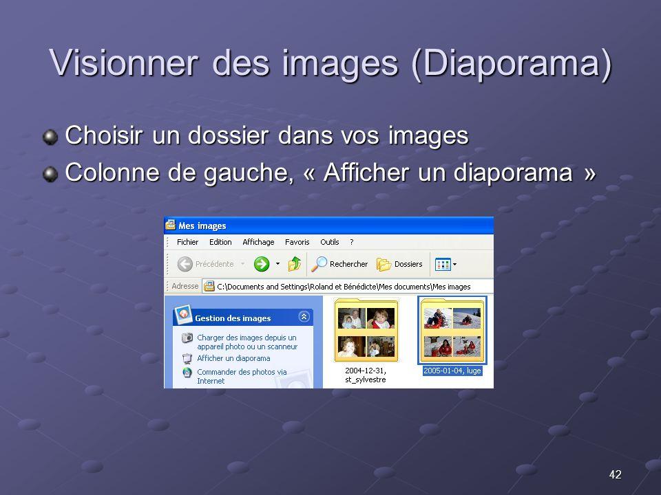 Visionner des images (Diaporama)