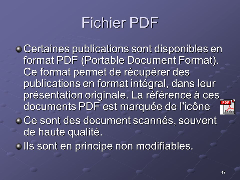 Fichier PDF