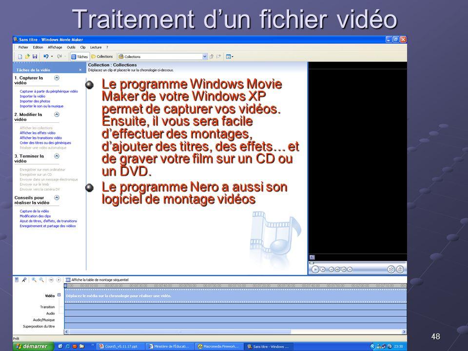 Traitement d'un fichier vidéo