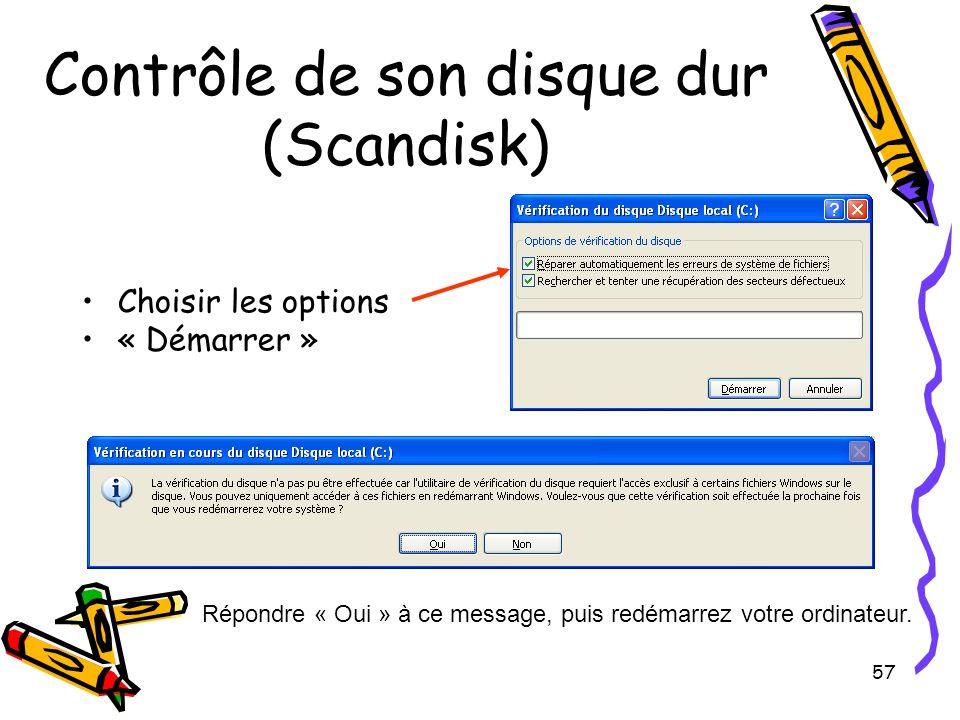 Contrôle de son disque dur (Scandisk)