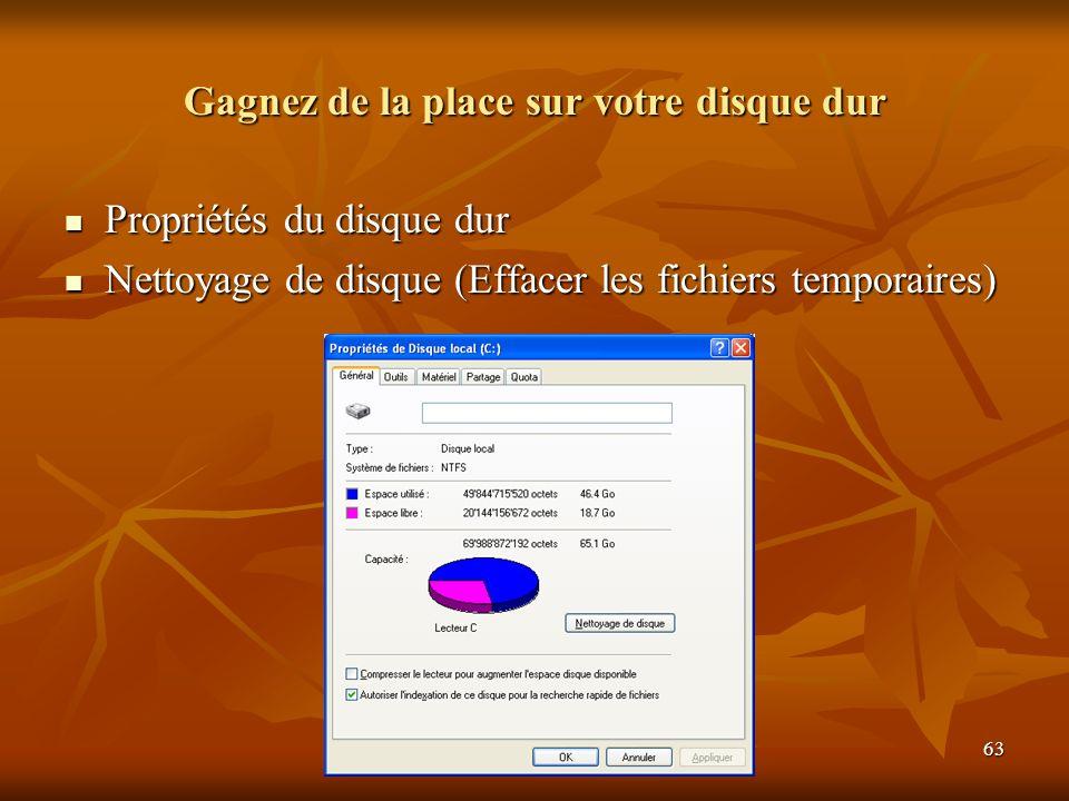 Gagnez de la place sur votre disque dur