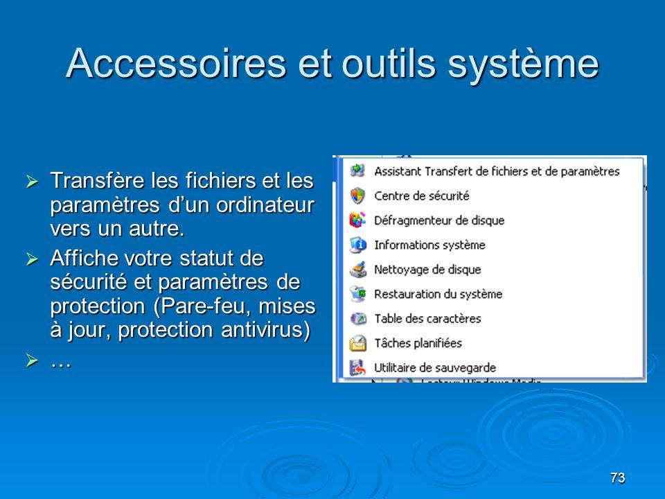 Accessoires et outils système