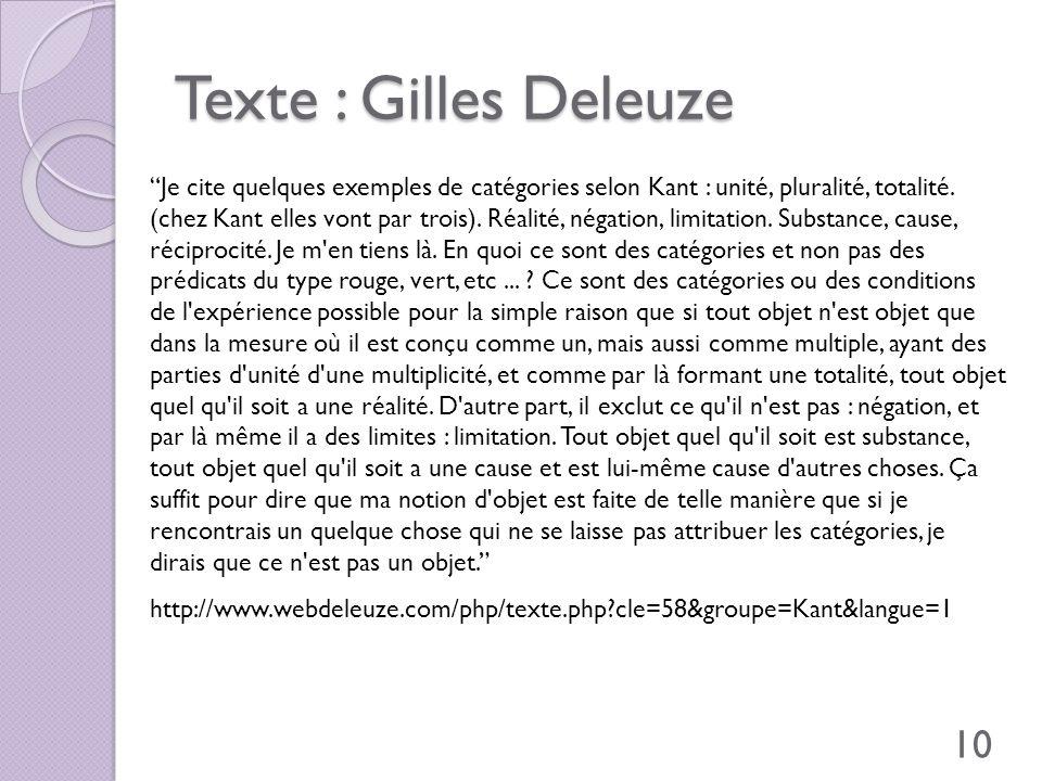 Texte : Gilles Deleuze