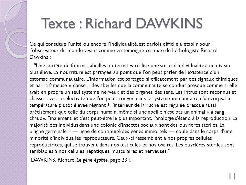 Texte : Richard DAWKINS