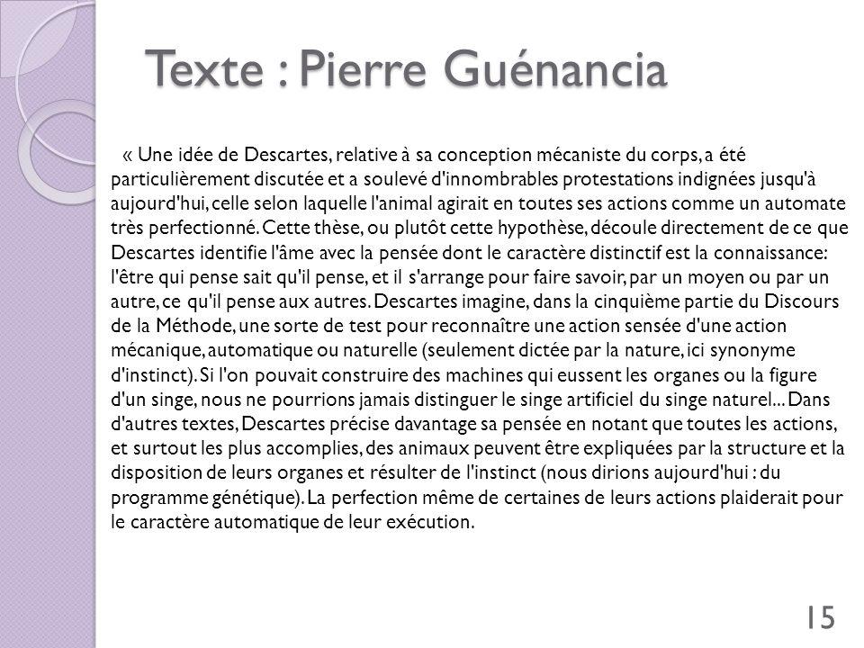 Texte : Pierre Guénancia