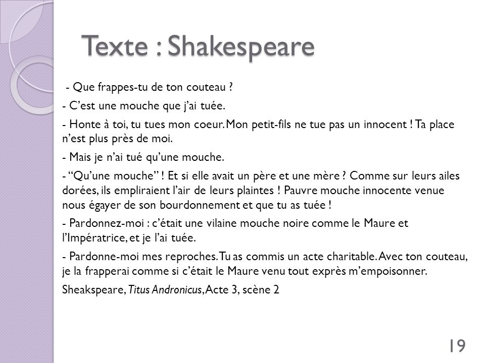 Texte : Shakespeare