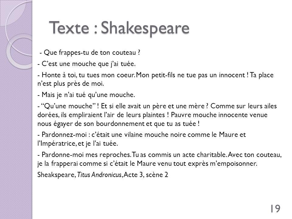 Texte : Shakespeare