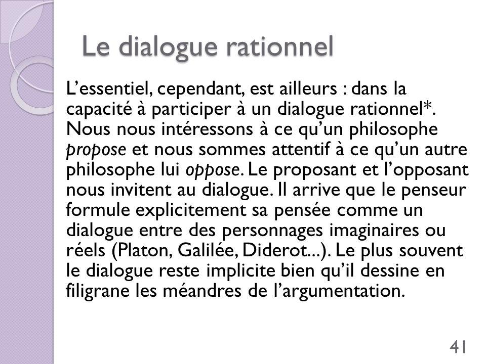 Le dialogue rationnel