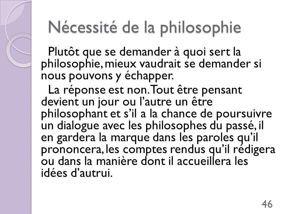 Nécessité de la philosophie