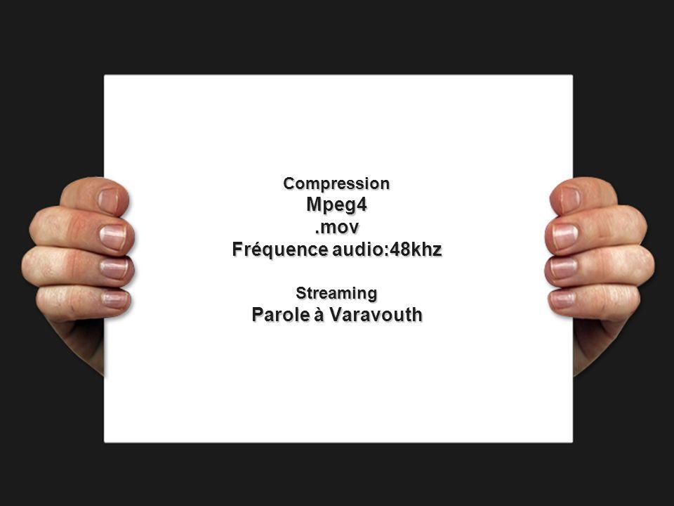 Mpeg4 .mov Fréquence audio:48khz Parole à Varavouth