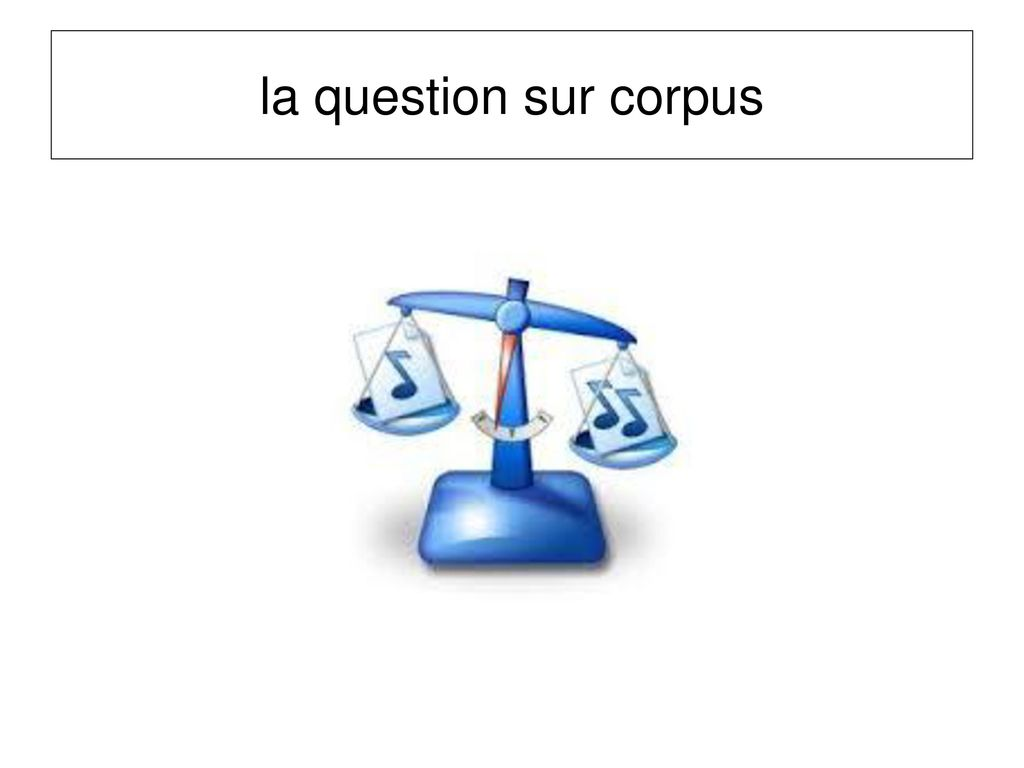 la question sur corpus