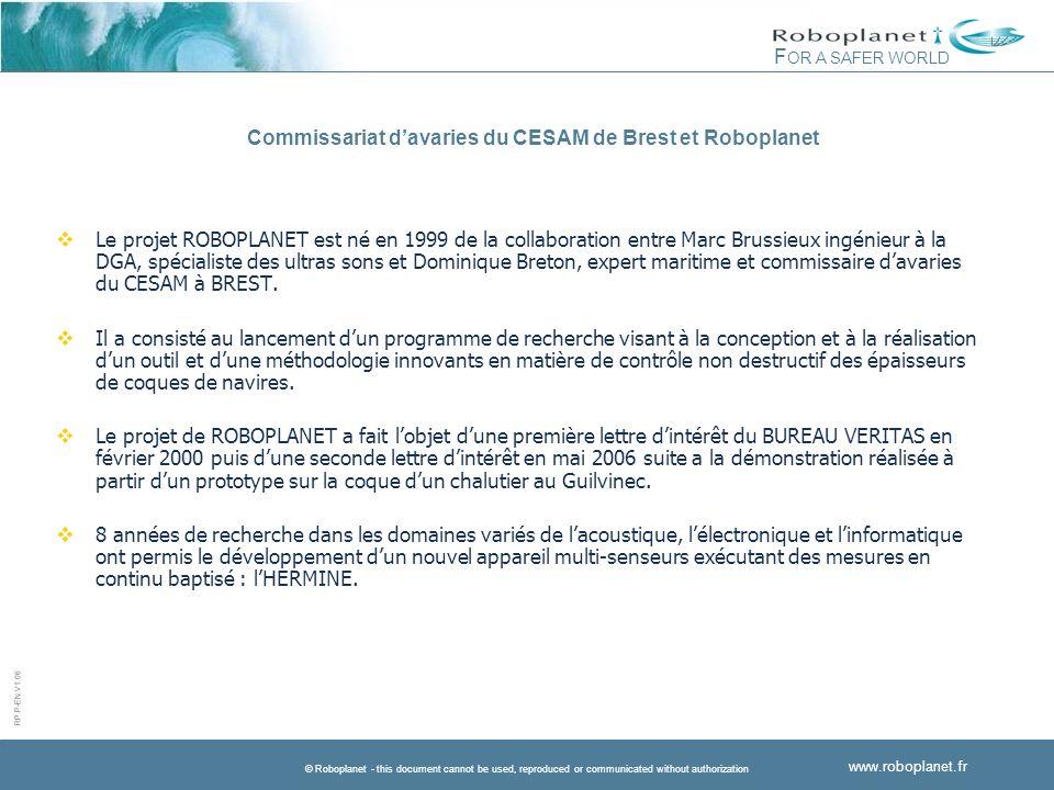 Commissariat d'avaries du CESAM de Brest et Roboplanet