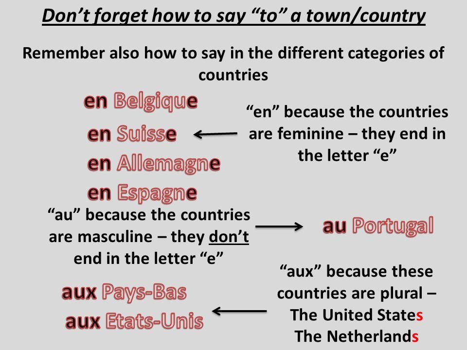 en Belgique en Suisse en Allemagne en Espagne au Portugal aux Pays-Bas