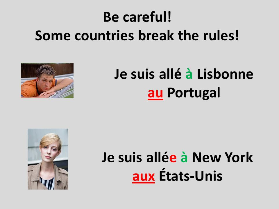 Some countries break the rules!