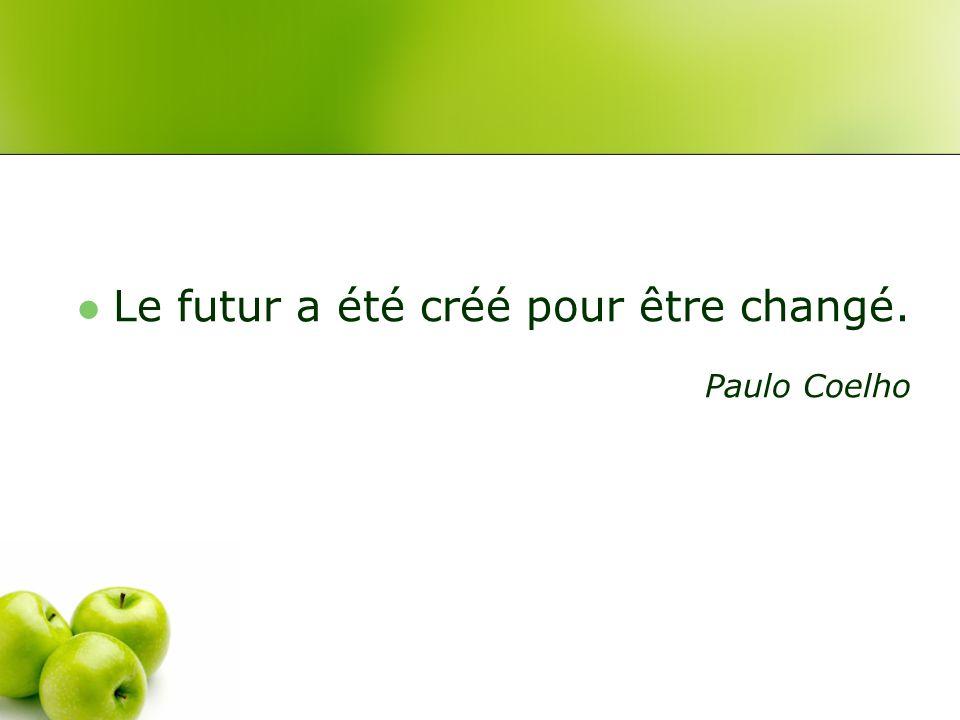 Le futur a été créé pour être changé.