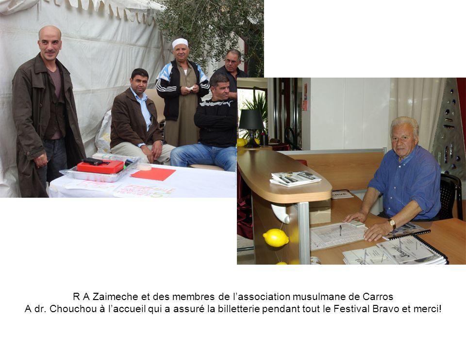 R A Zaimeche et des membres de l'association musulmane de Carros A dr