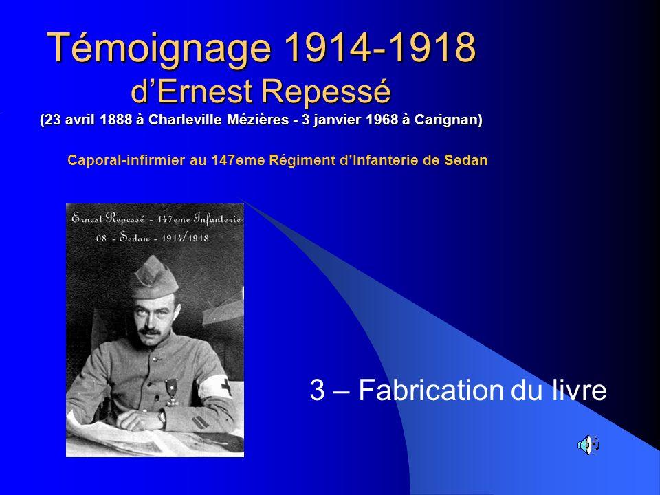 Caporal-infirmier au 147eme Régiment d'Infanterie de Sedan