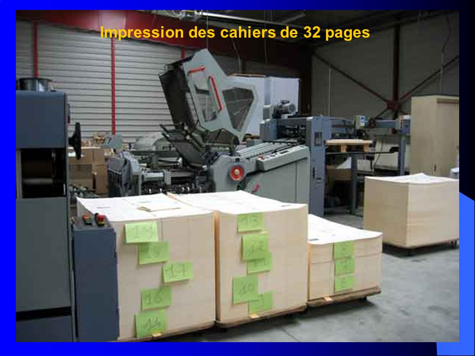 Impression des cahiers de 32 pages