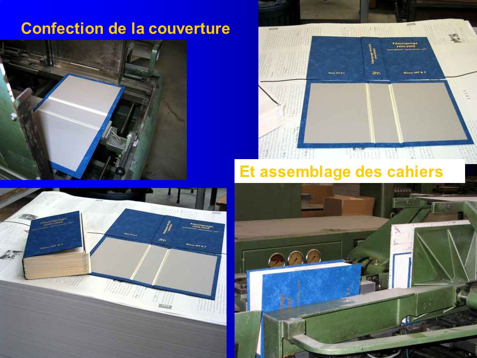 Confection de la couverture