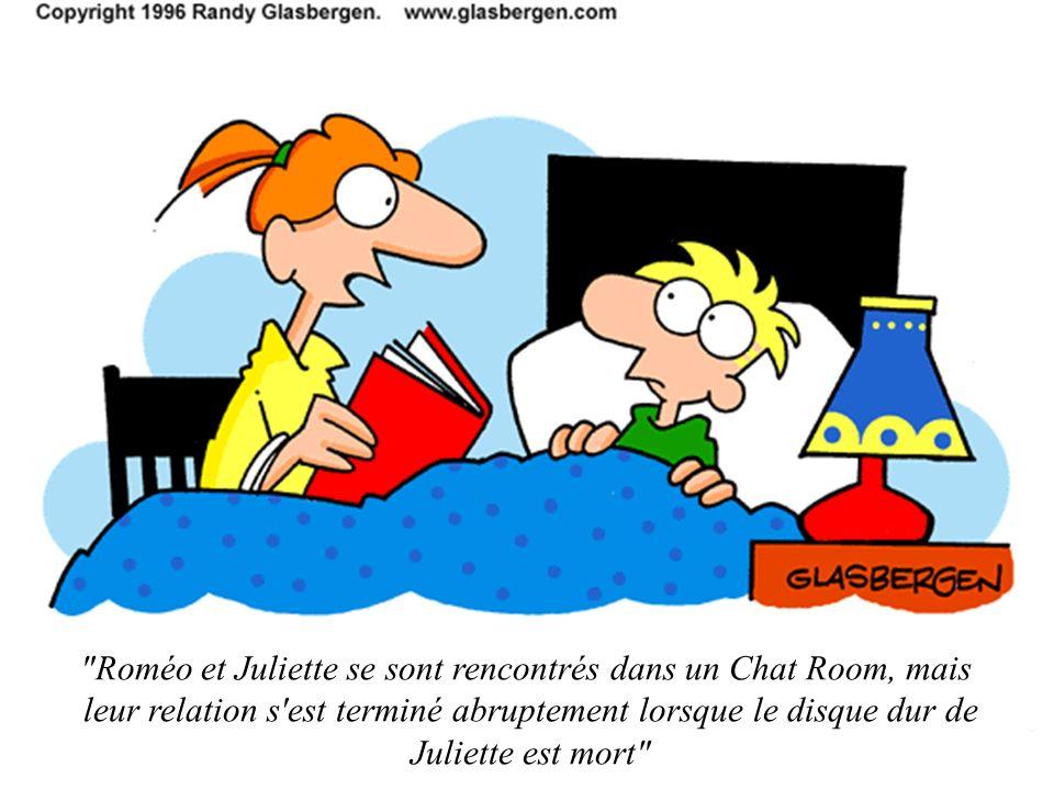 Roméo et Juliette se sont rencontrés dans un Chat Room, mais