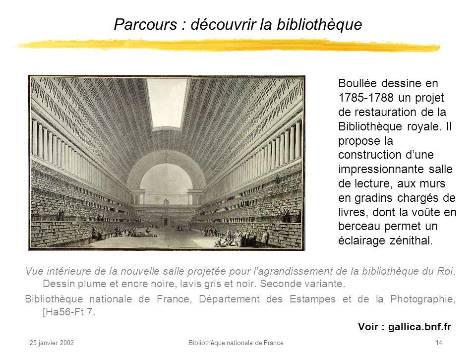 Parcours : découvrir la bibliothèque