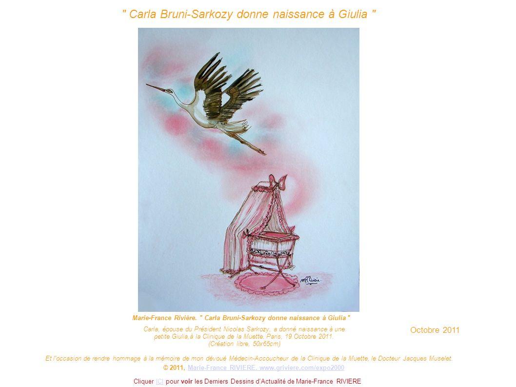 Carla Bruni-Sarkozy donne naissance à Giulia