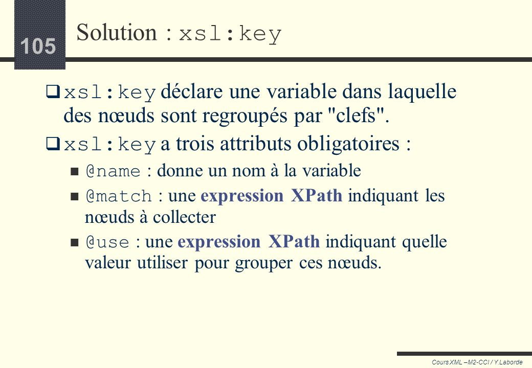 Cours XSLT/XPath - Yves Laborde