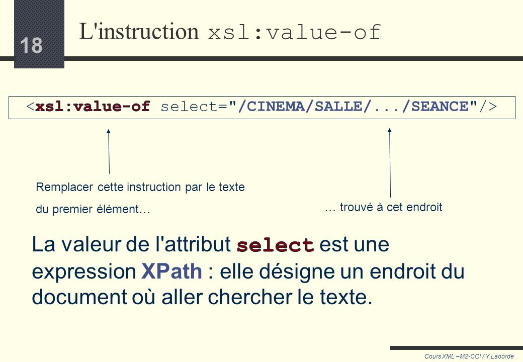 L instruction xsl:value-of