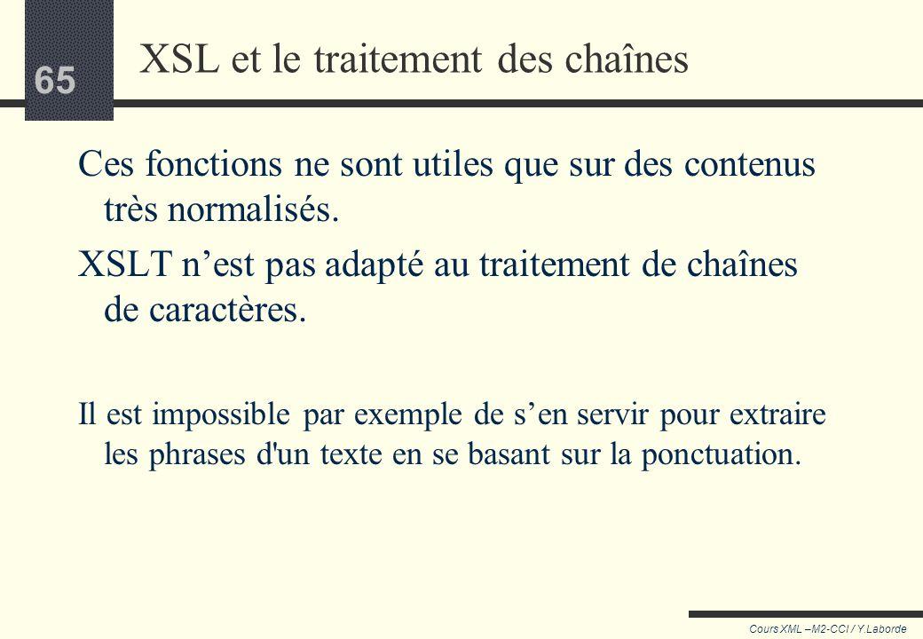 XSL et le traitement des chaînes