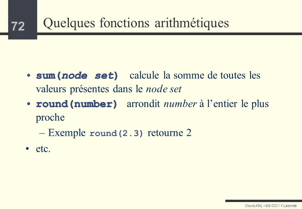 Quelques fonctions arithmétiques