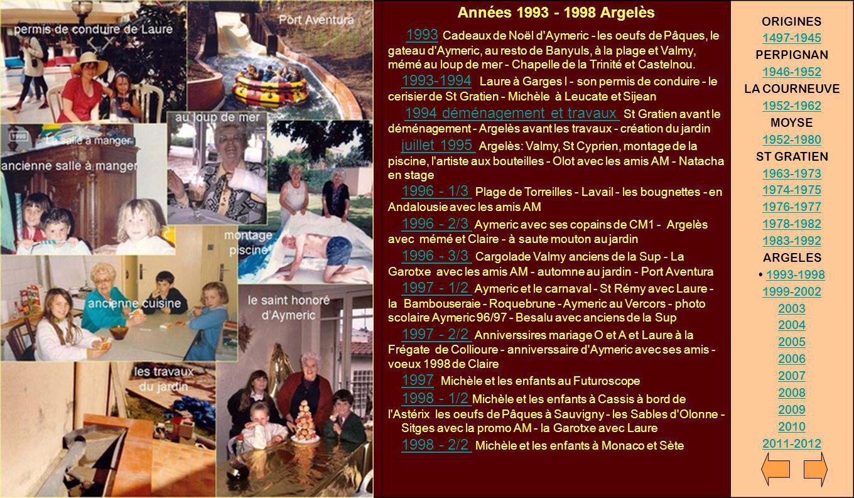 Années 1993 - 1998 Argelès