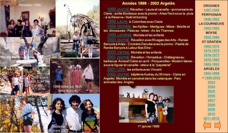 Années 1999 - 2002 Argelès ORIGINES